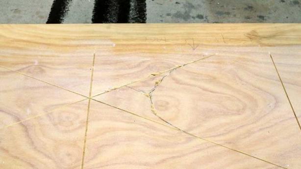 Turning wood into stone