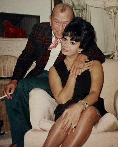Noël Coward with Sophia Loren in Les Avants Switzerland December 1964..jpg