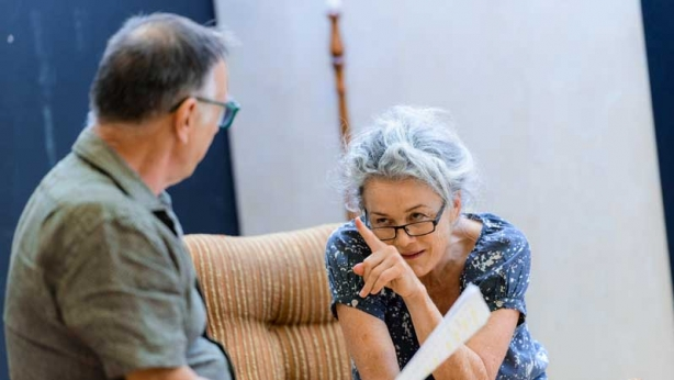 William Zappa and Sarah Peirse in rehearsal for The Children