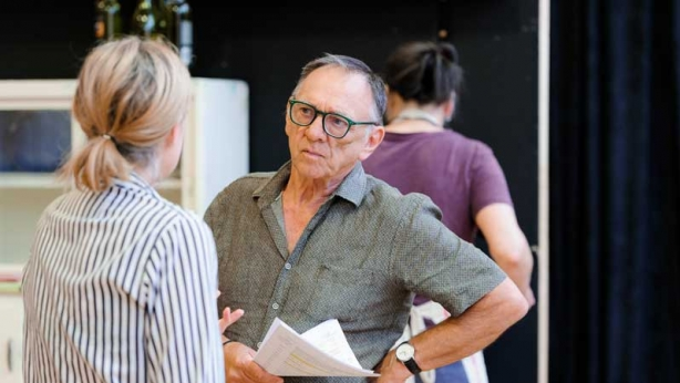 Sarah Goods and William Zappa in rehearsal for The Children