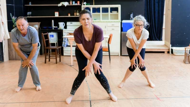 William Zappa, Pamela Rabe and Sarah Peirse in rehearsal for The Children